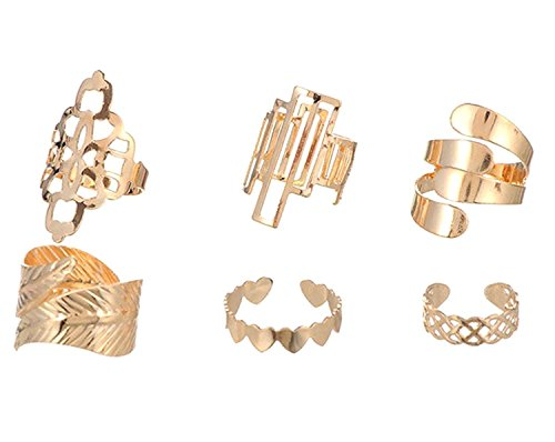 Habors-Non-Precious-Metal-Gold-6-Pcs-Midi-Ring-Set-For-Women