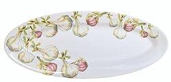 Abbiamo Tutto Garlic Oval Platter, 22-Inch by 8.5-Inch