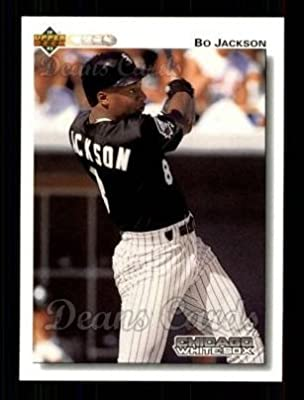 1992 Upper Deck # 555 Bo Jackson Chicago White Sox (Baseball Card) Dean's Cards 8 - NM/MT