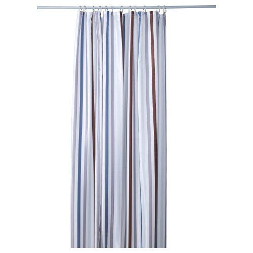 BREDGRUND シャワーカーテン / ストライプ グレー [イケア]IKEA(50190597)