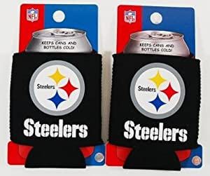 Set Of 2 Pittsburgh Steelers Nfl Can Kaddy Koozies at SteelerMania