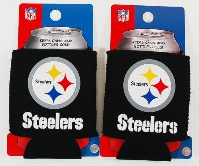 Set Of 2 Pittsburgh Steelers Nfl Can Kaddy Koozies at SteelerMania