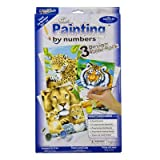 Perfect Junior Paint By Numbers Leopards Lions and Tigers Pack [E93514] [Cleva Edition]