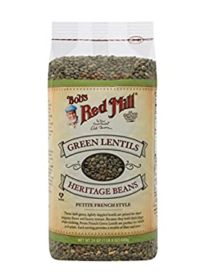 Bob's Red Mill Petite French Green Lentils, 24-ounce by Bob's Red Mill