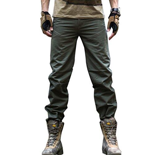 Baymate Uomo Lavoro dell'esercito Militare Camo Cargo Pantaloni Esercito Verde 36