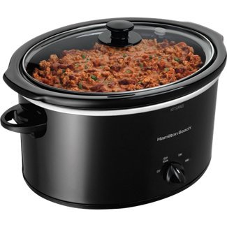 Hamilton Beach 5 Qt. Slow Cooker with Bonus Party Dipper | 33250 (Designer Slow Cooker compare prices)