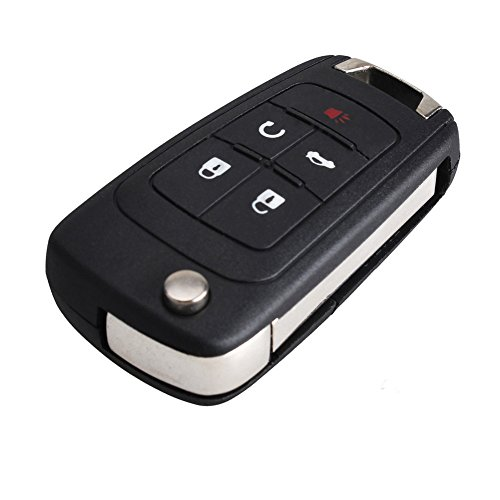 bacai-replacement-folding-5-buttons-remote-key-case-shell-entry-fob-for-chevrolet-camaro-cruze-equin