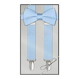 Suspender & Bow Tie Set (Kids, Light Blue)