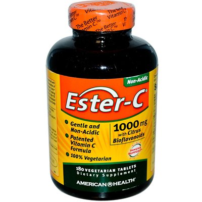 American Health Ester-C With Citrus Bioflavoronoids - 1000 Mg - 180 Vegetarian Tablets