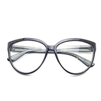 Emblem Eyewear Womens Oversize Retro Nerd Clear Lens Fashion Cat Eye Geek Glasses