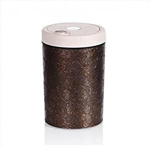 With a lid trash can small office plastic wastebasket leatherette finish modern - Small trash can with lid ...