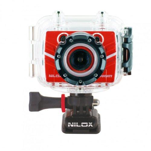 """Nilox 13NXAKFH Foolish Ducati, Videocamera per Sport Estremi, Schermo LCD 1.5"""" , Zoom Digitale x4, Full HD 1080p, Colore Rosso"""