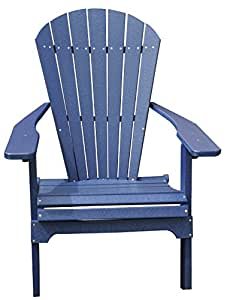 Amish Made Polywood Folding Adirondack Chair Weatherproof Outdoo