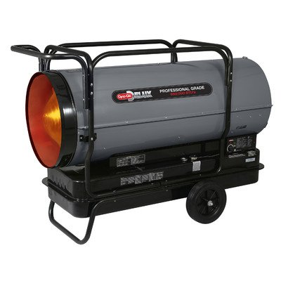 Dyna-Glo Delux KFA650DGD Portable 650,000-BTU Multi-Fuel Forced Air Heater w/ Flat-Free Wheels (650000 Kerosene Heater compare prices)