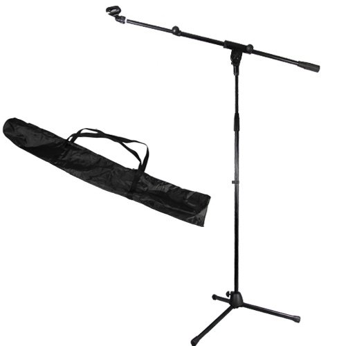 Podium Pro Adjustable Steel Microphone Stand With Boom , Ez Mic Clip And Stand Bag Ms2Set11