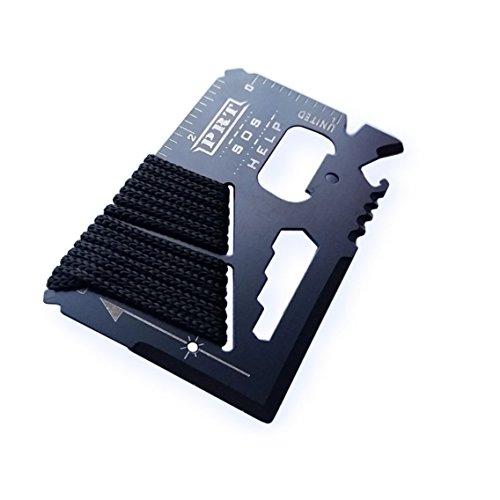 Survival Multi Tool - RumbaDock Survival Gear Tools 14-1 Credit Card Multitool- Best SAS Survival Kit Multi-tool- Ideal for Fishing