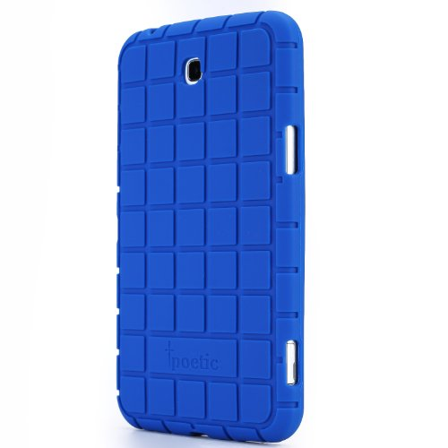 Poetic Samsung Galaxy Tab 3 7.0 Case [GraphGrip Series] - Protective Silicone Case for Samsung Galaxy Tab 3 7.0 (SM-T210 / SM-T211 / SM-215) Blue (3-Year Manufacturer Warranty from Poetic)