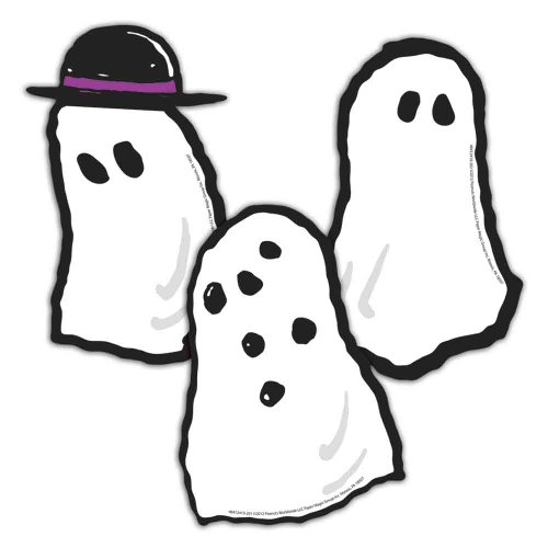 "Eureka Peanuts Halloween Ghosts Paper 5"" Tall Cut Out, Set of 36 - 1"