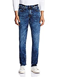 Locomotive Men's Slim Fit Jeans (15140001455958_LMJN003925_34W x 32L_Indigo)