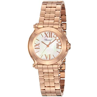 Chopard Women's 274189-5003 Happy Sport Round Analog Display Swiss Quartz Pink Watch