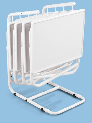 Table-Mate II 4-Pack Folding Table with Storage Rack