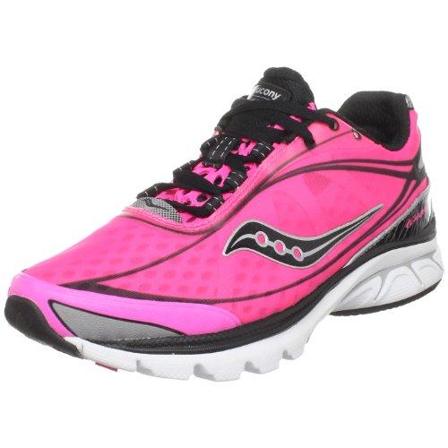 Saucony Women's ProGrid Kinvara Running Shoe,Black/Pink,8 M US