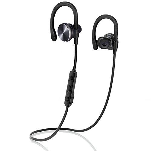 COULAX Bluetooth イヤホン イヤ-フック付き ランニング中でも耳から外れにくいスポーツイヤホン マイク内蔵 ハンズフリー通話 APT-X CVC6.0 ノイズキャンセリング搭載 高音質 防水 ワイヤレス イヤホン 技適認証済
