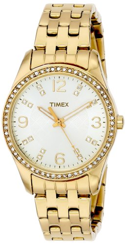 Timex Women'S T2P388 Crystal Gold-Tone Stainless Steel Bracelet Watch front-872714