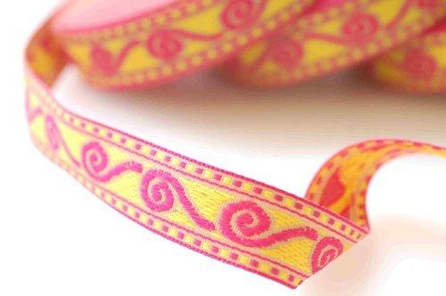 ribbon-trim-con-celtico-motivo-jacquard-per-cucire-o-hobby-artigianato-o-rottami-di-prenotazione-o-b