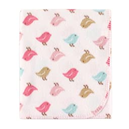 Luvable Friends Printed Fleece Blanket, Birdies