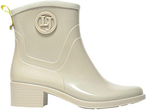 Lemon Jelly Women's Iara Women's Beige Rubber Ankle Boots In Size 36 Beige