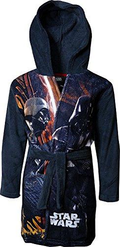 1c543ea95f67c Star Wars Garçon doux en polaire à capuche Robe de chambre Gris foncé-10 Ans