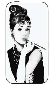 Audrey Hepburn iPhone 4 or 4s Hard Plastic Case Cover