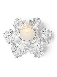 Abbott Collection Thick Snowflake Tea Lite Holder, 4.5\