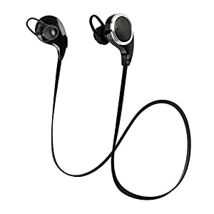QY8 Sport Wireless Bluetooth 4.1 Earphones, Stereo In-Ear Noise Cancelling Headphones Headset Earbuds