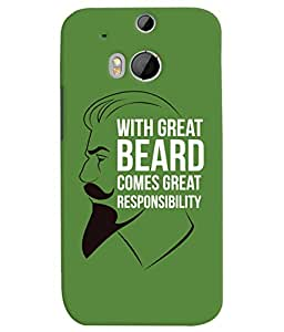 ColourCrust HTC One M8 Mobile Phone Back Cover With Beard Quote Quirky - Durable Matte Finish Hard Plastic Slim Case