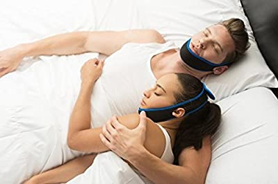 Adjustable Anti Snore Chin Jaw Strap - Sleep Aid Jaw Strap Reduces Snoring - Allows a Restful Night's Sleep - Comfortable - Satisfaction Guaranteed