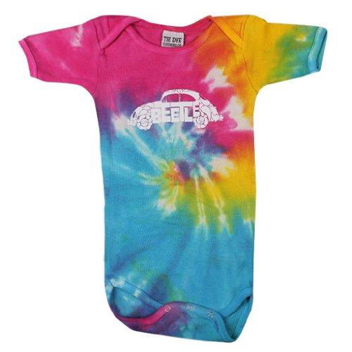 Genuine Volkswagen Vw Beetle Splash Of Color Tie Dye Baby Infant Cruiser Onesie - Size 18 Months
