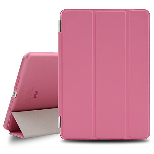 BESDATA Ultra Thin Magnetic Smart Cover for Apple iPad Mini 1st Generation [Wake/Sleep Function] Translucent Back Case + Screen Protector + Cleaning Cloth + Stylus (Pink) (Ipad Mini Back Cover Pink compare prices)
