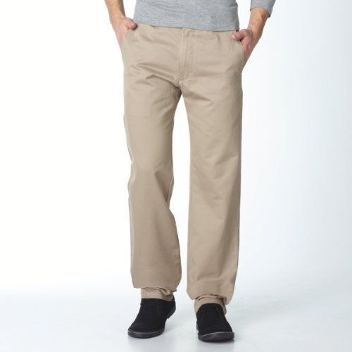 Pure cotton twill d1 trousers, length 34 dark beige 31