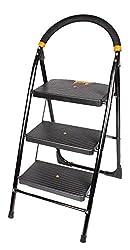 Cipla Plast Folding Ladder with Wide Steps - Milano 3 Steps + Free 14 Pcs Multipurpose Buffers
