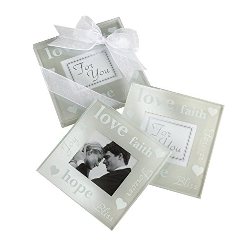 "Kate Aspen ""Good Wishes"" Pearlized Photo Coaster"