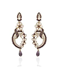 I Jewels Tradtional Gold Plated Elegantly Handcrafted Pair Of Fashion Earrings For Women. - B00N7IO2B0