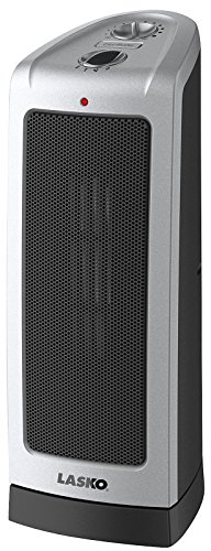 Lasko 5307 Oscillating Ceramic Rise Heater, 16-Inch