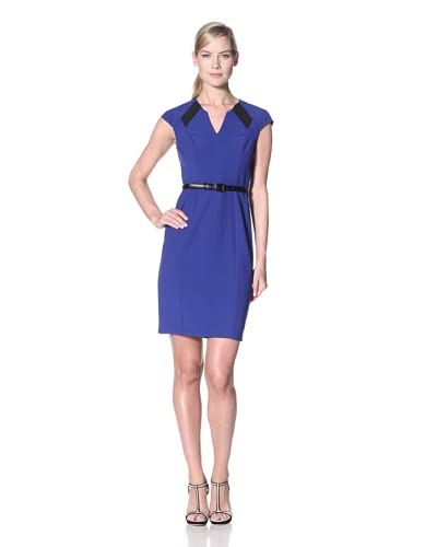 Jessica Simpson Women's Career Dress with Mesh Insets  - Royal Blue