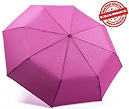 Kolumbo Windproof Umbrellas Tested 55 MPH Proven - **BEWARE of Knockoffs** Innovative & Patent Pending - Auto Open Close One Hand Operation, Won\'t Break If Inverted, Durability Tested 5000 Times - Guaranteed Lifetime Replacement