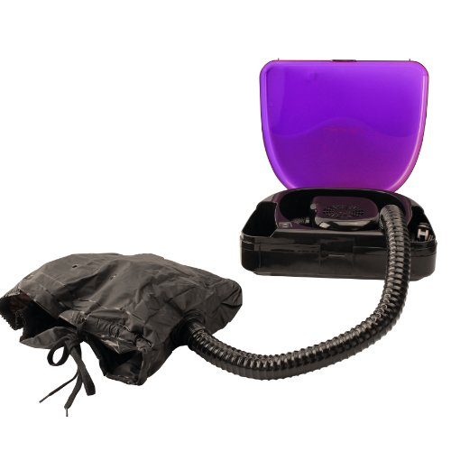Laila Ali LADR5604 Ionic Soft Bonnet Dryer, Purple and Black