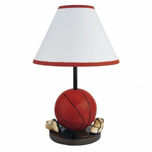 """15.75""""H Basketball With Shoes Theme Ceremic Table Lamp front-698836"""