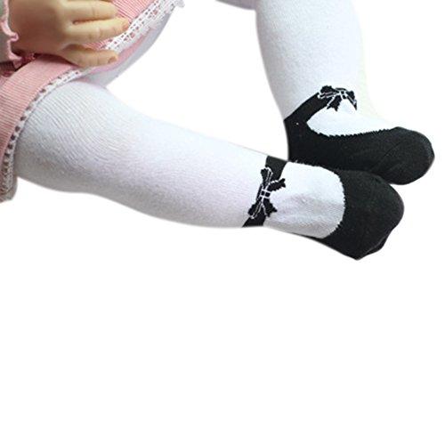 Highdas Collant stile ballerina con volant nero - antiscivolo - collezione esclusiva - da 12 a 24 mesi