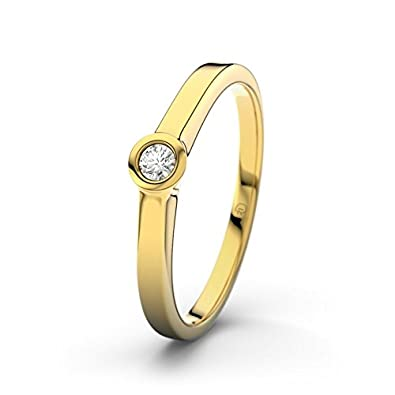 Vigo 21DIAMONDS Women's Ring 14 Carat (585) Yellow Gold Brilliant Cut Diamond Engagement Ring 0.75 Carat Engagement Ring